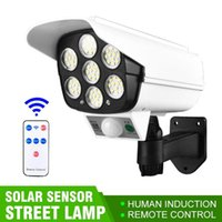 Edison LED Solar Lamp Simulation Monitoring Light Fake Camera Human Body Induction Courtyard Street Garden Lights Spotlight