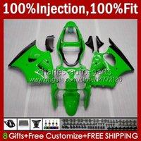 川崎忍者ZZR600 ZZR-600 600 CC 05-08 Bodywork 100%FIT 38HC.101緑色の光沢のあるセールZZR 600 2005 2006 2007 2008 600CC 05 06 07 08 OEMフェアリングキット