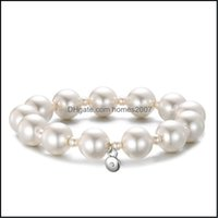 Jewelrynatural Freshwater Pearl Bracelets & Bangles For Women Lady Elastic Extend Beaded Statement Jewelry Gifts Bangle Drop Delivery 2021 U