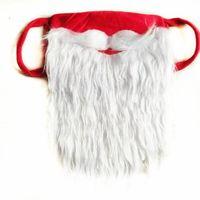 Party Masks Santa Claus Beard Halloween Funny beards White Christmas moustache Dust Proof Cotton Mask ZC418