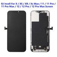 يانغ الهواتف الملحقات آيفون XS XR 11 12 برو ماكس لوحات LCD تستخدم لإصلاح شاشة عرض الهاتف RJ Incell جودة اللمس محول الأرقام شاشة الجمعية الجمعية