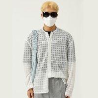 Malha Masculina Manta Solta Casual Manga Longa Camisa de Praia de Proteção Sol Homem Coreano Streetwear Hip Hop para Mulheres Masculino