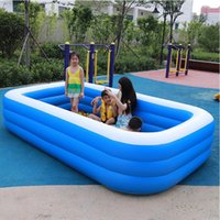 Durable Inflatable Swimming Pool 70 83 102'' Paddle Adult Bathtub Water Toy Floats & Tubes