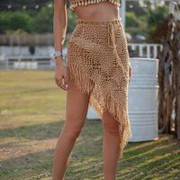 Costume da bagno Cover Up Nappe Bikini Beach Cove Rup Crochet Beachwear Gonna Costumi da bagno Costumi da bagno Costumi da bagno Costumi da bagno 2021 Donne