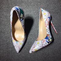 Tasarımcılar Kadın Ayakkabı Kırmızı Dipleri Yüksek Topuklu Seksi Sivri Burun Taban 8 cm 10 cm 12 cm
