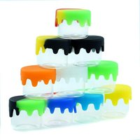 6ml glass container Nonstick wax bottle containers silicone lid glaess box oil jar oils holder for vaporizer vape dab tool storage