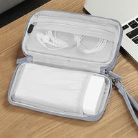 Portable Digital Storage Bags Organizer USB Gear Cables Wires Charger Power Battery Zipper Phone Bag Case Accessories Item