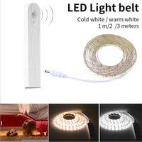 Câmera clara do gabinete LED Cama ativada 5V PIR Sensor Strip 2835 Night Wardrobe Lamp Tape Iluminação Tiras