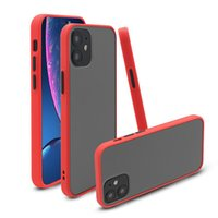 cell phone cases Transparent Matte Frosted Hybrid TPU PC Shockproof Hard Case For iPhone 12 11 Pro XS Max XR X 8 7 6 Plus