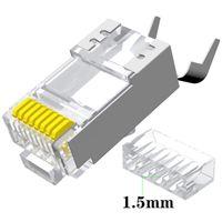 Connector Network Cable 10Pcs Cat7 RJ45 1.5mm Cat 7 Crystal Plug Shielded FTP Modular Computer Cables & Connectors