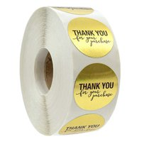 Gold Gold Merci Stickers Sceller Etiquettes 500 étiquettes Sticker Scrapbooking pour Phase Papeterie Commercial Sticker-S