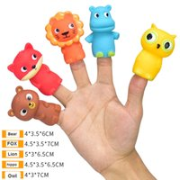 Fun Little Toys Animal Head Finger Puppets Party Favors 5PCS toys for baby Q0313