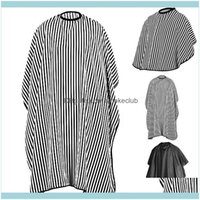 Aprons Textiles Home & Garden2021 Popfeel Excellent Quality Striped Salon Hair Cutting Cloth Barber Hairdressing Cape Brand And High Quality