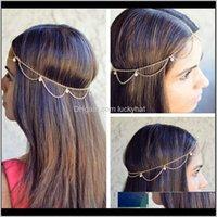 Bohemian Bridal Accessories Pour Femmes Mode Bandeau Chaîne Bijoux Boho Headpiece De Mariage Jewellry Indien VUJ4V Autre GVROY