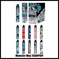 Orijinal Canavar Max Tek Kullanımlık Vape E Sigara Cihazı Kiti 2500 Puffs Tercih Pod Vape Kalem Otantik VS Bar Artı Çift Bang XXL Hava Bar Max Yüksek Pro