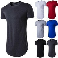 Men's T-Shirts VICABO T Shirt Summer Short Sleeve Casual Shirts Basic O-neck Solid Color Side With Zipper Men Clothing