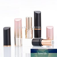 12.1mm Black Plastic Lipstick Tube Pink Gold Empty Cosmetic Container Round Lip Bottle High Grade Makeup Tool 30pcs