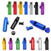 Bullet Foguete Forma Snuff Snufante Tubulação De Alumínio Metal Sniff Dispenser Nasal Sniffer Tobacco Erva Acessórios