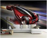 Wallpapers Custom Po 3d Wallpaper Cool Texture Hand Drawn Concept Sports Car Room Home Decor Wall Murals For Walls 3 D