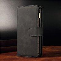 Luxury Leather Wallet P40pro Zipper Case For Huawei P40 P30 Mate30 Pro Nova6se Honor 10i 20i 10 20 Lite P Smart Plus Phone Cover