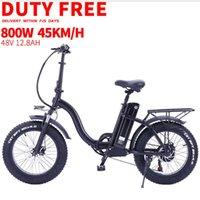 Duty free electric bicycle 800w 48V12.8ah lithium battery 4.0 fat ebike fatbike folding Foldable adult Bikes 20inch e bike Y0913