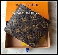 Designer Luxurys Hohe Qualität L Billfold Brieftasche Paris Plaid Style Designer Herren Geldbörse Frauen Geldbörse High-End S Luxus Brieftaschen Handtasche mit Kasten