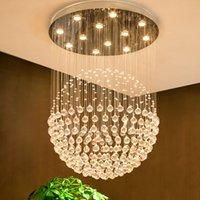 22- 빛 현대 K9 크리스탈 빗방울 샹들리에 조명 플러시 마운트 LED 천장 조명기구 펜던트 램프 식당 욕실 침실 거실 GU10 전구