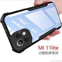 Pour Xiaomi for case Mi 11 lite 5g 10T Pro Redmi Note 10 5G 10S Note10 Protransparent Coque de téléphone acrylique en acrylique renforcé Couvercle de protection de coin