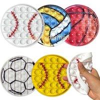 New Fidget игрушки бейсбол толчок пузырь мяч игры футбол баскетбол Кубок мира jouet анти стресс энстант силикона