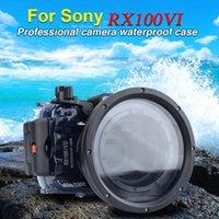 Seafrogs 60m / 195ft كاميرا تحت الماء ماء حالة الغوص السكن لسوني RX100 السادس مارك 6 أوجيحي بركة الملحقات