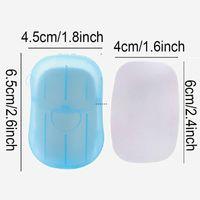 20 Pcs Set Disposable Boxed Soaps Paper Portable Aromatherapy Hand Wash Bath Travel Mini Soap Box Bathroom Accessories HHE6231