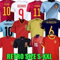 Final 1994 1996 2010 2010 2010 2012 Espanha Retro Soccer Jersey Gerard Thiago Ferran Koke Luis Enrique Xavi Alonso Iniesta Pique Torres Fabregas Camiseta de Fútbol Camisas