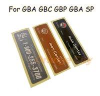 Для GBA / GBA SP / GBC GBP Gabp Console New Lable Lables Back Наклейки Замена батареи Направления для Gameboy Advance / Sp / Color