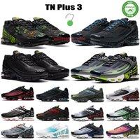 Novo TN 2 Plus 3 Correndo Sapatos Homens Mulheres Triple Branco Preto Aqua Topografia Multicolor Hyper Azul Verde Neon feito com materiais sustentáveis Mens Treinadores Sneakers