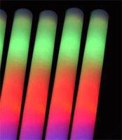 LED Köpük Sopa Renkli Yanıp Sönen Batonlar Kırmızı Yeşil Mavi Işık Up Sopa Festivali Parti Dekorasyon Konser Prop 771 x2