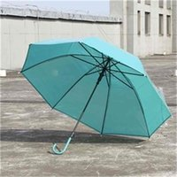 جديد مكارون لون مظلة شفافة سوبر كبير مستقيم مقبض طويل التلقائي مظلات أندبروف الرجال المطر أناقة الأعمال FWD6653