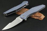 Topkwaliteit RM12 Flipper vouwmes D2 Stone Wash Blade G10 + Roestvrijstalen handvat Kogellager EDC Pocketmessen