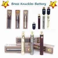 Messing-Knöchel Batterie 650mAh 900mAh Gold Holz Silber Vorheizen Einstellbare Spannung Vape Pen BK 510 Gewindekassette