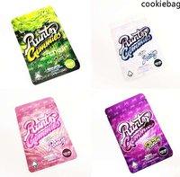 2021 Beyaz Run TZ Çanta Yenilebilir Mylar Ambalaj Torbaları On Ther Benim Plastik Fermuar Up Tasarım Şeker Çanta