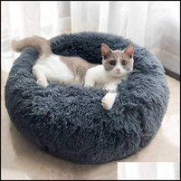 Houses Kennels Aessories Supplies Home & Gardenpet Mats Dog Cat Winter Warm Bag Long Plush Soft Pet Calming Bed Indoor Round Pillow Sleeping