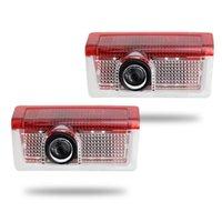 PCS Araba Kapı Dekoru Lambaları için - A B C E GLA GLC ML Sınıfı Oto Logosu Lazer Projesi LED Hoşgeldin Işıkları Hayalet Gölge Interiorexterna Interiorex