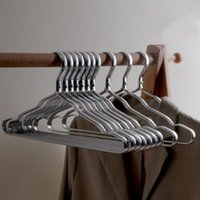 Hangers & Racks 5pcs Metal Clothes Aluminium Alloy Skid Resistance (Dark Grey)