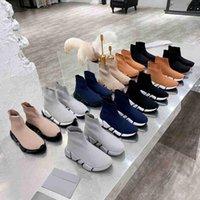 Мужчины Женщины Трикотажные Носки Обувь Мода Дамы Платформа Кроссовки Топ Дизайнер Пары Ругушки Тренеров Обувь Человеческий кроссовки