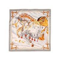 Wholale Custom Imprimir Luxuri Wensli Horse Scarv Ladi Elegante Sarva Mulberia Cetim 100% Puro Seda Silk Scarf Silk