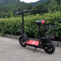 Electric Bicycle Foldable Skateboard 400W 48V 12 INCH Max Range 80KM Kick Scooter With Seat For Adult