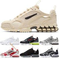 Yüksek Kaliteli Zoom Spiridon Kafesli 2 Koşu Ayakkabıları Erkekler Kadınlar Için Tasarımcı Fosil Saf Platin Metalik Hematit Açık Sneakers Boyutu 5.5-11