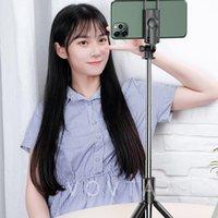 Téléphone cellulaire Photographie Accessoires Bluetooth Mini Portable Fill Light Selfie Pole Tripode Titulaire Live Titulaire universel Horizontal et vertical Caméra Artefact