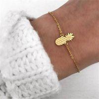 Charm Bracelets Adjustable Chain Bangle Bracelet Stylish Fruit Pineapple Elegant Pineapples Chains Anklet Jewelry