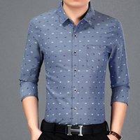 Jbersee Camisa Социальная стройная подходящая Мужская рубашка Хлопок Мода Высокое Качество Длинные Рукава Мужские Платье Бизнес Повседневная Мужские Рубашки