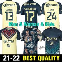 Top 2021 2022 Femme Club America Soccer Jerseys F. Viñas Henry G. Ochoa Liga MX Jersey Rodriguez Giovani 2122 América Football Shirt Man KDIS Kit